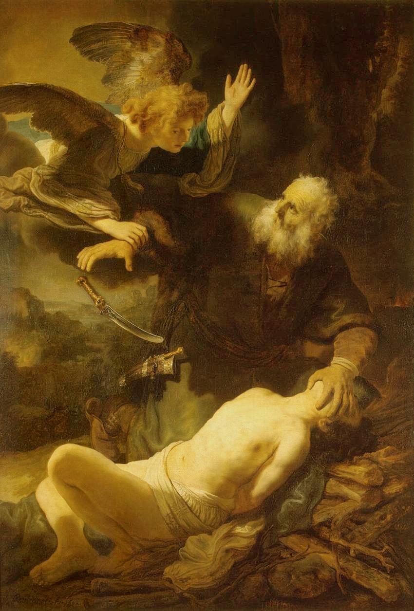 Abraham et Isaac - Rembrandt