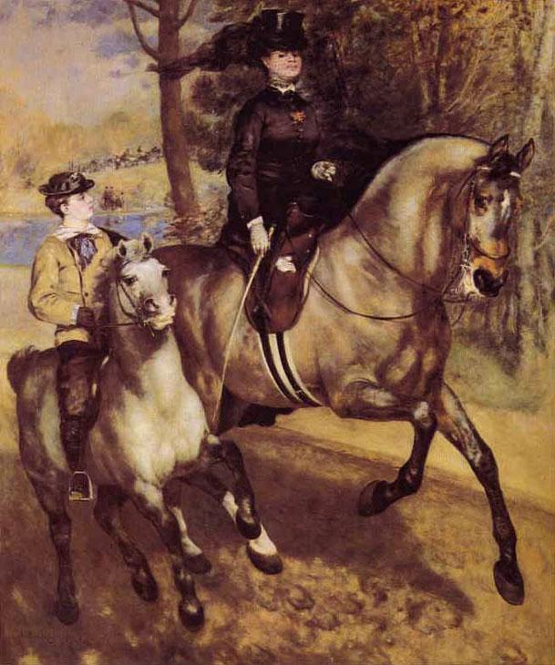 Allée cavalière au bois de Boulogne - Renoir