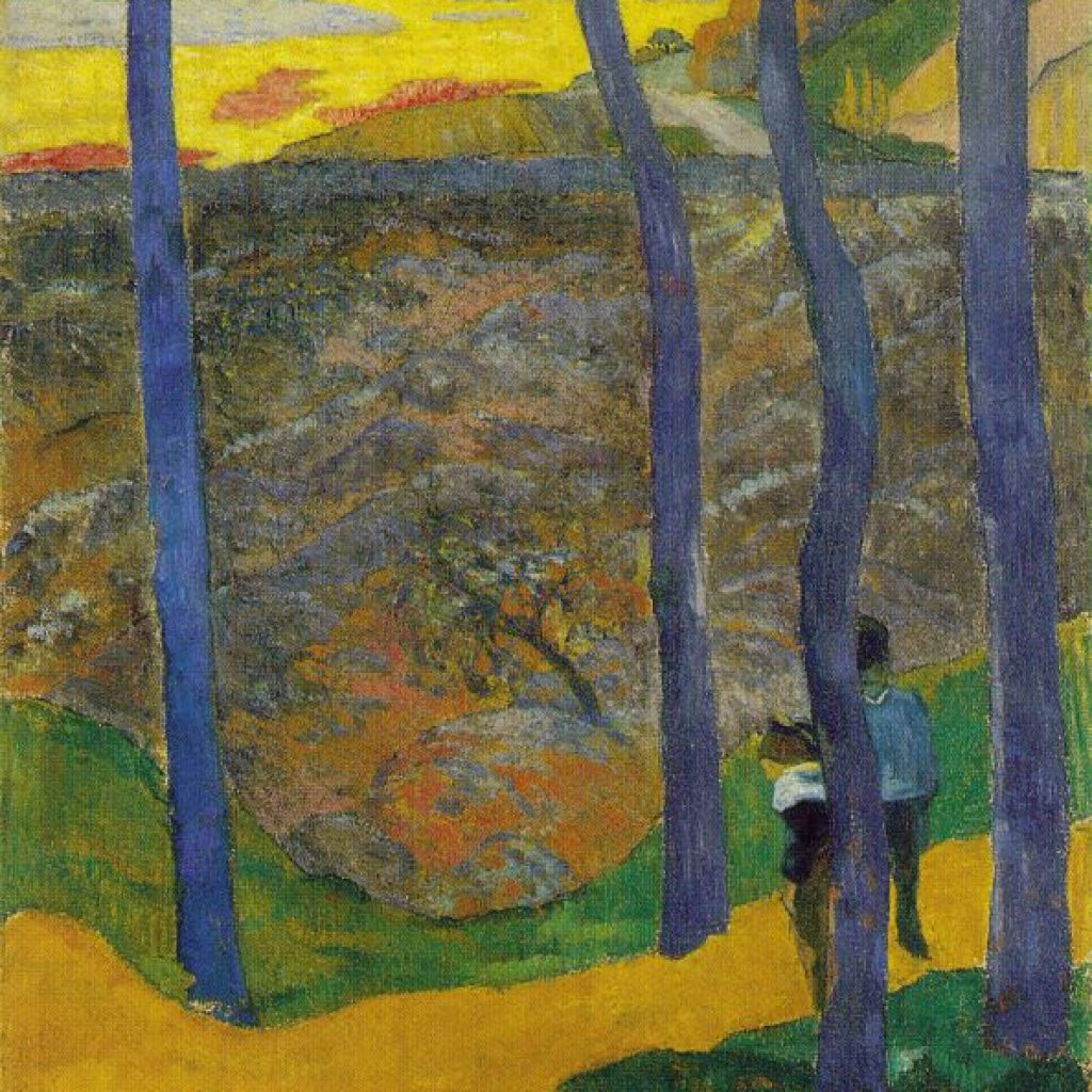 Arbres bleus - Gauguin
