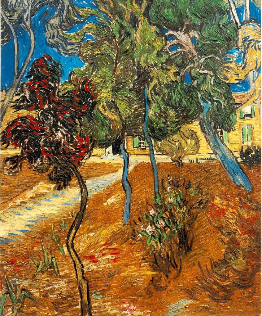 Arbres dans le parc de l'hospice St Paul - Van Gogh