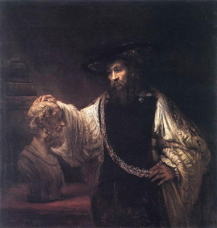 Aristote avec un buste d'Homère - Rembrandt