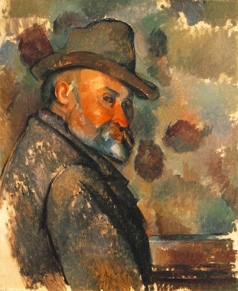 Autoportrait avec chapeau mou - Cézanne