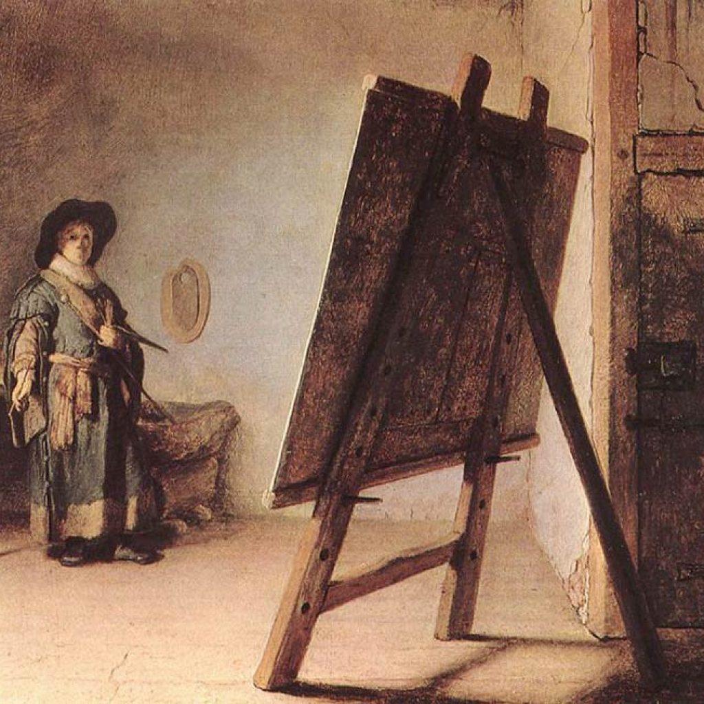 Autoportrait avec chevalet - Rembrandt