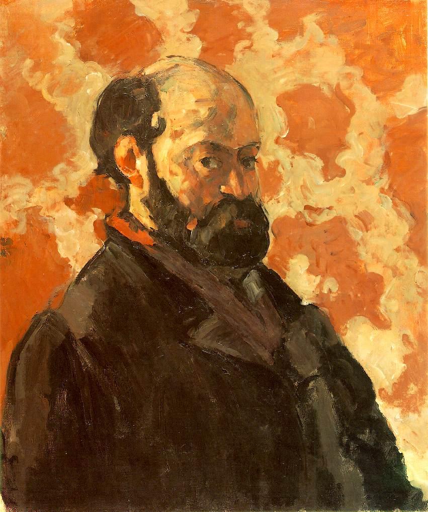 Autoportrait avec fond rose - Cézanne