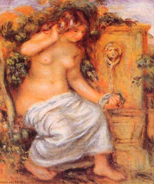 Baigneuse à la fontaine - Renoir
