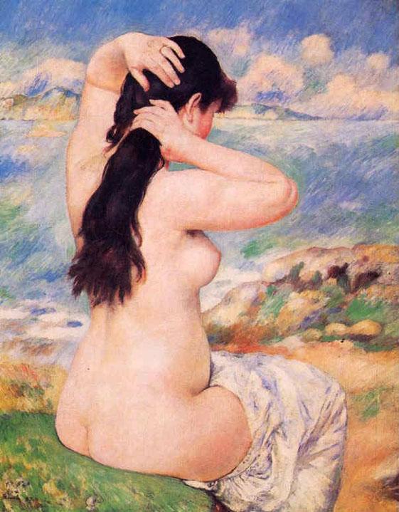 Baigneuse ou la coiffure - Renoir