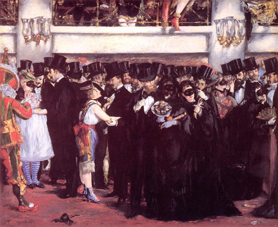 Bal masqué à l'opéra - Manet