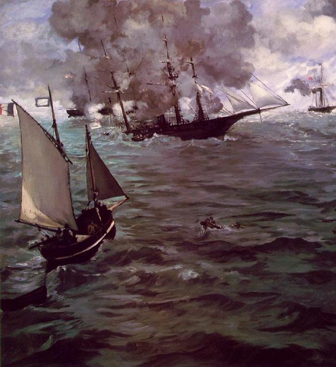 Bataille de Kearsarge et l'Alabama - Manet