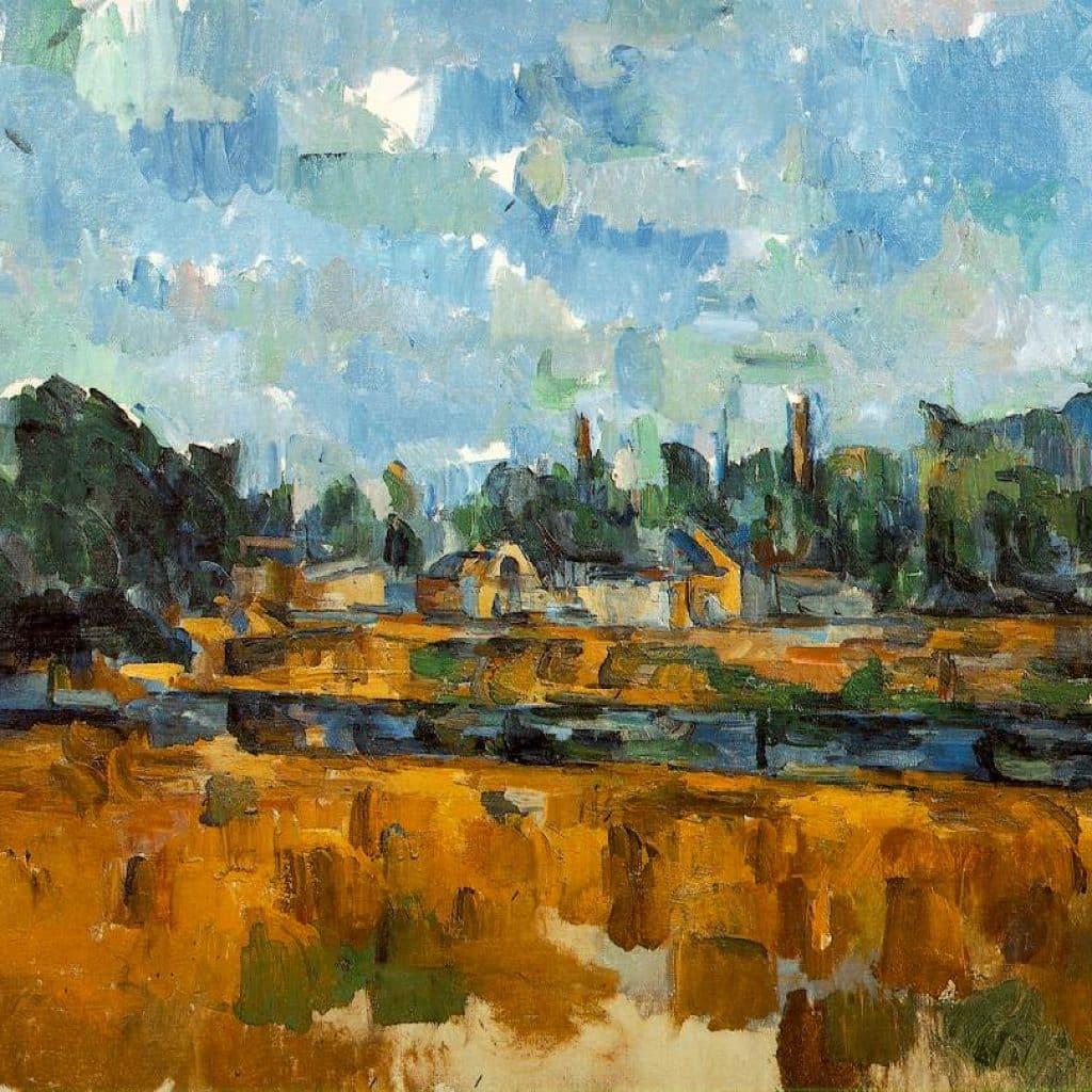 Bords d'une rivière - Cézanne