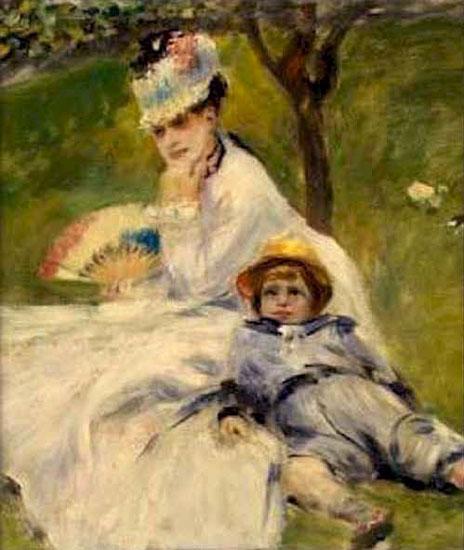 Camille Monet et son fils Jean - Renoir