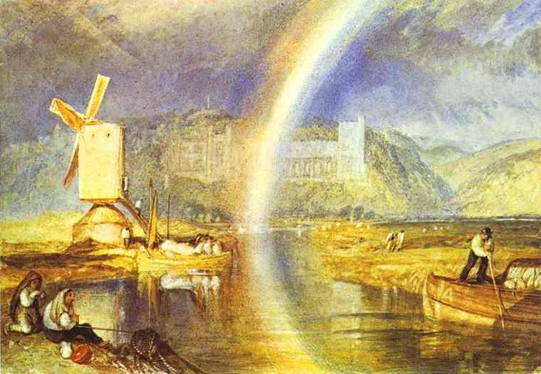 Château d'Arundel avec pluie - Turner