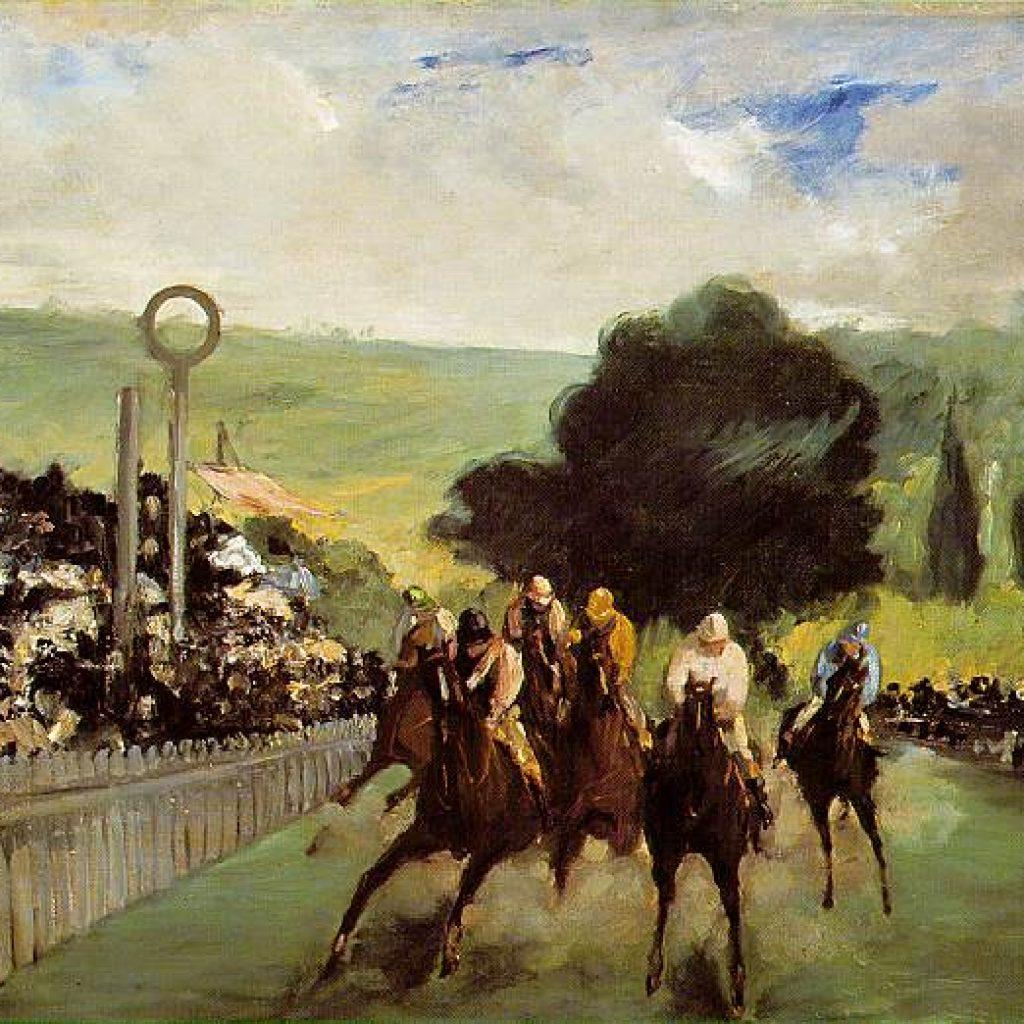 Champ de course près de Paris - Manet