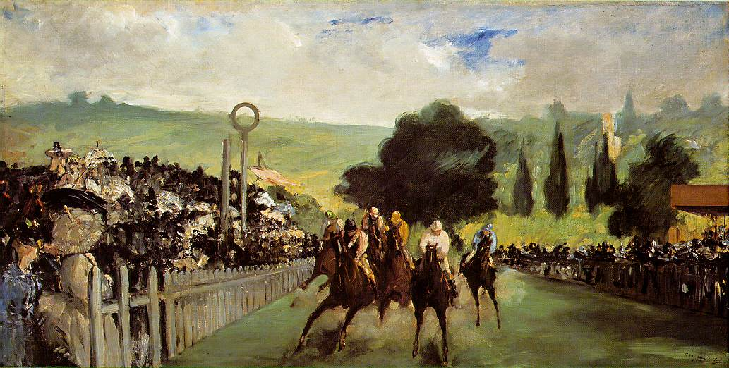 Champ de course près de Paris - Manet