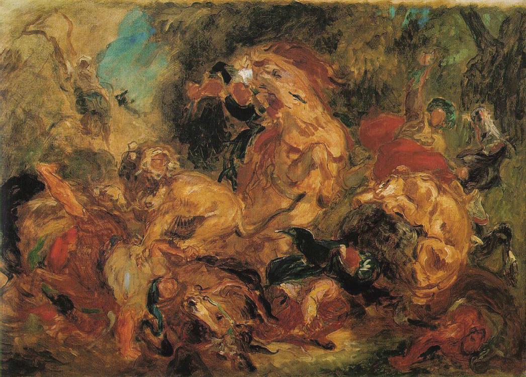 Chasse au lion - Delacroix