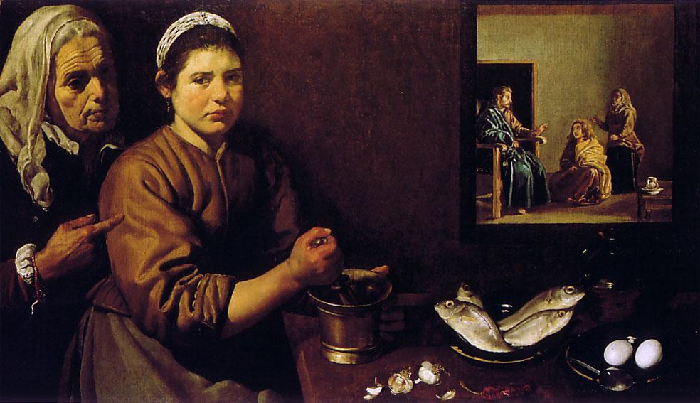Christ dans la maison de Marthe et Marie - Velazquez