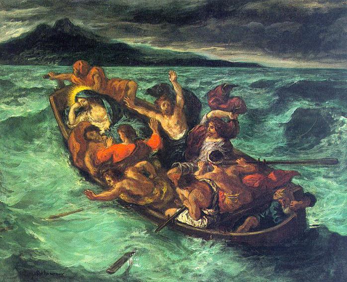 Christ sur le lac de Genesareth - Delacroix