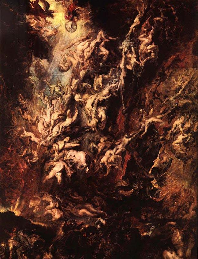 Chute des anges rebelles - Rubens