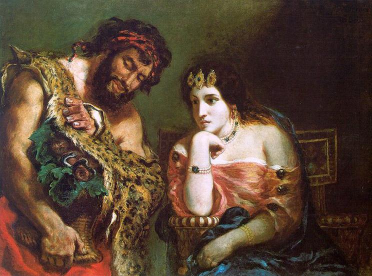 Cléopâtre et le paysan - Delacroix