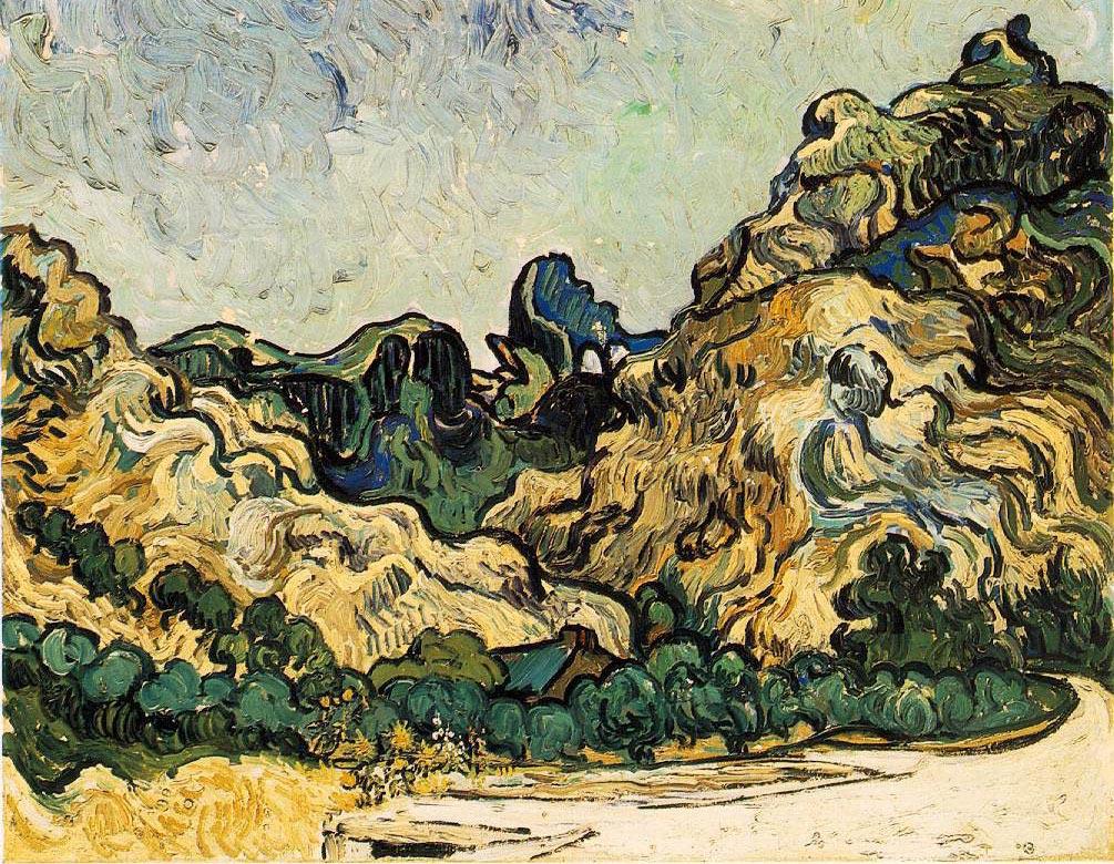 Colline à Saint Remy - Van Gogh