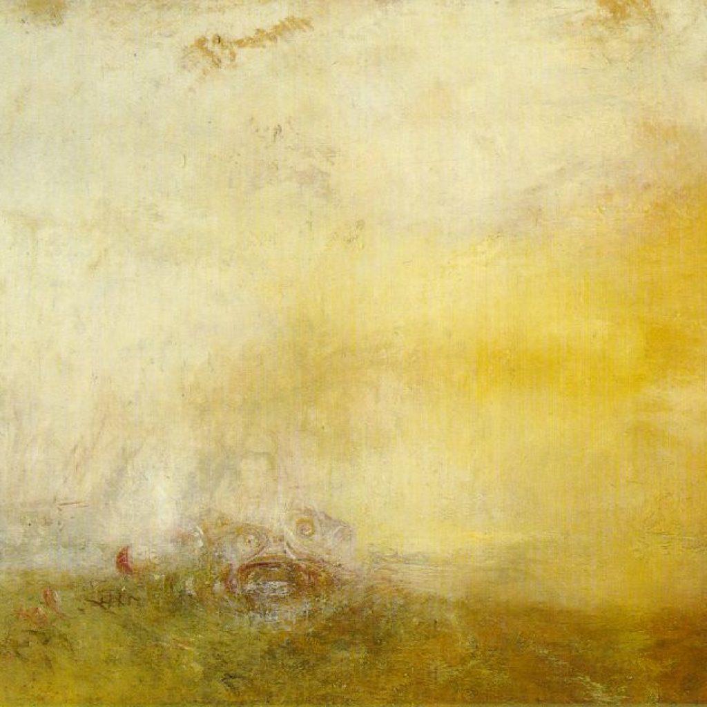 Coucher de soleil avec monstres marins - Turner