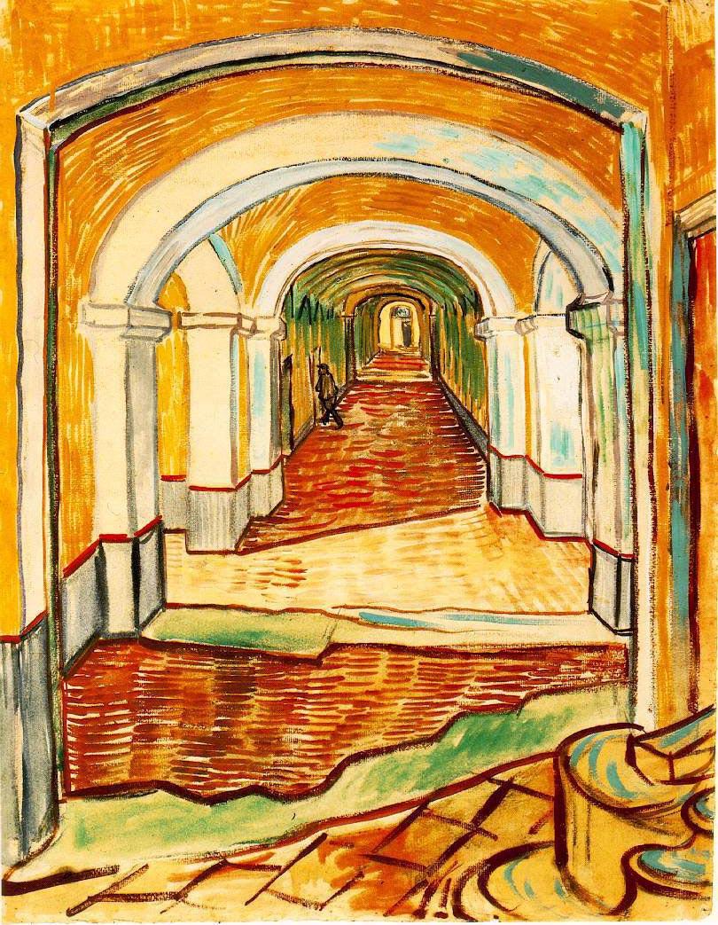 Couloir de l'hospice St Paul - Van Gogh