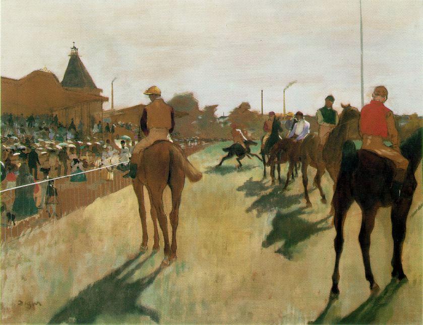 Course de chevaux - Degas