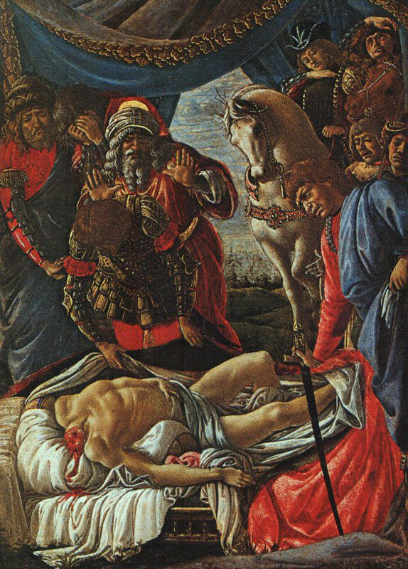 Découverte du meurtre d'Holophernes - Botticelli
