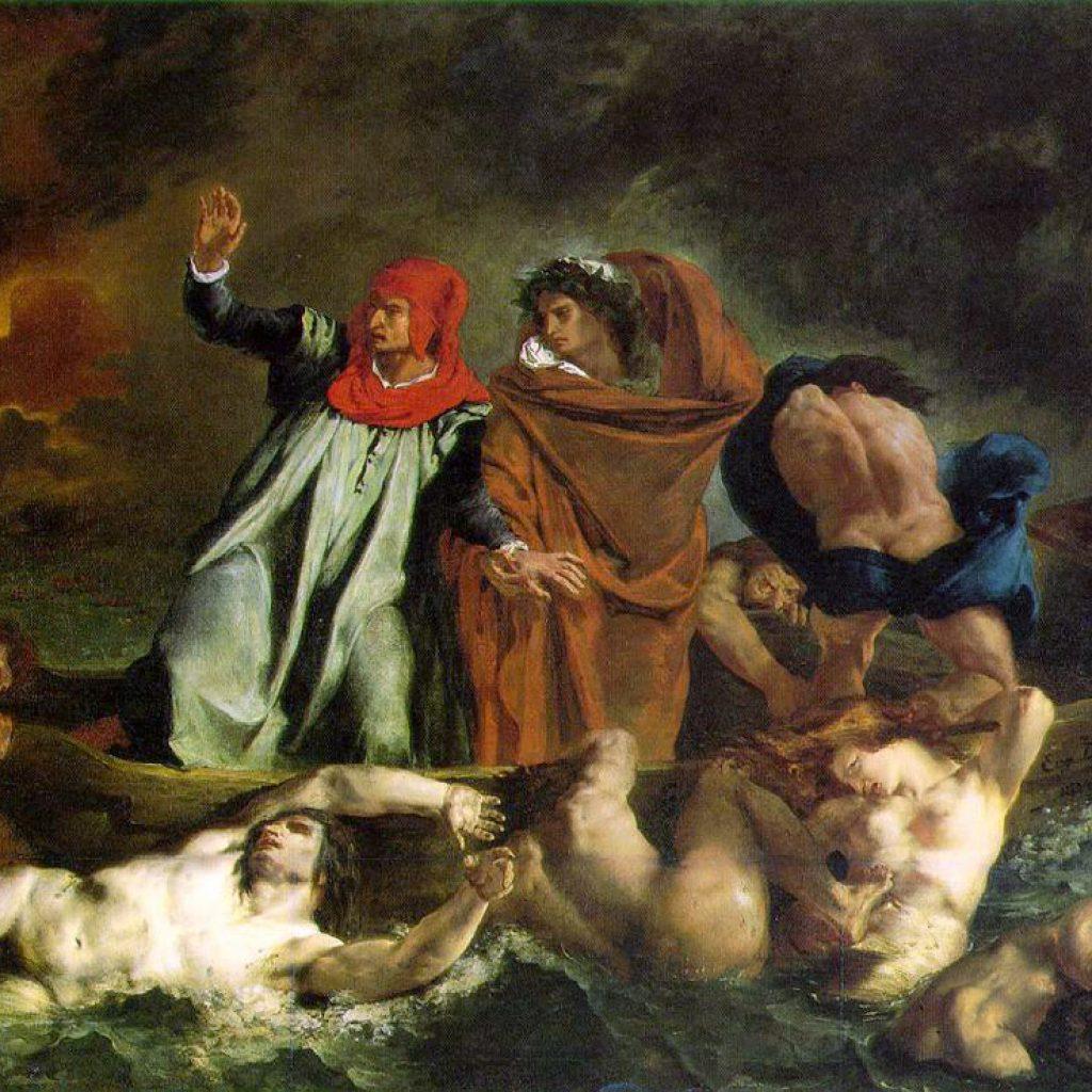 Dante et Virgil en enfer - Delacroix