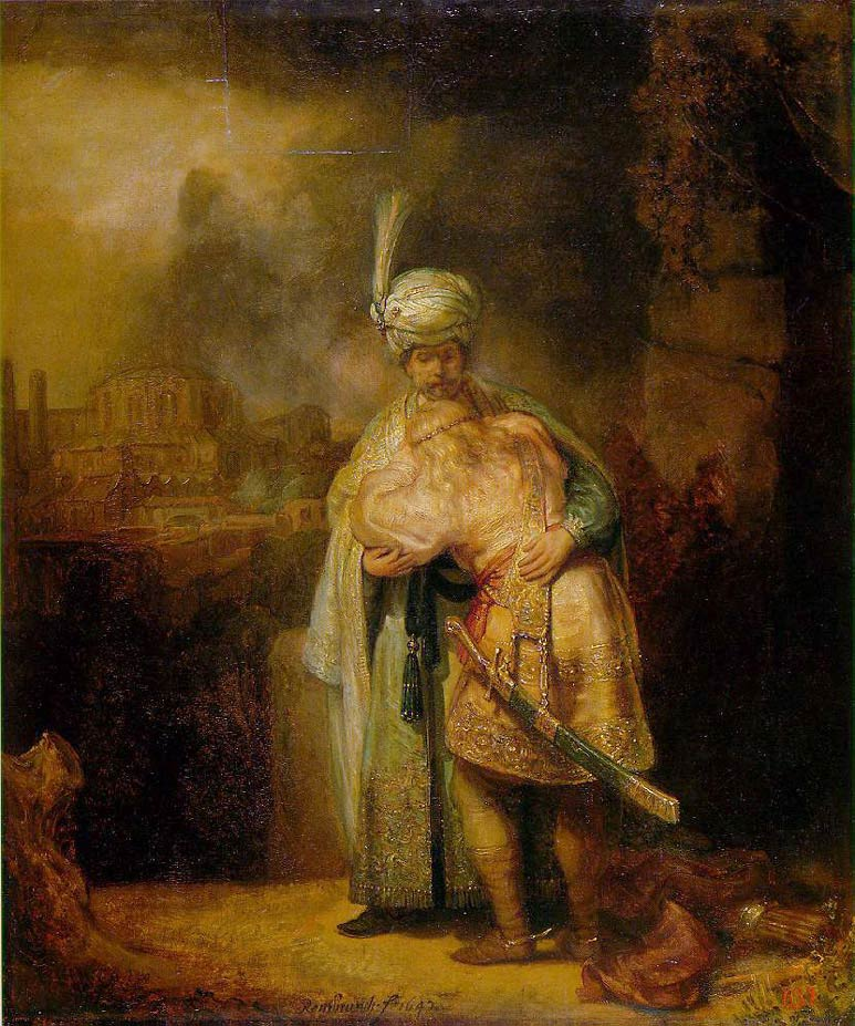 David et Jonathan - Rembrandt