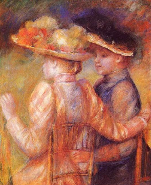 Deux femmes dans un jardin - Renoir