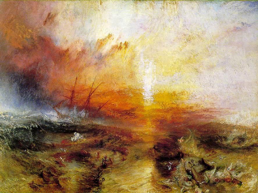Esclaves jetant par-dessus-bord les morts et mourants - Turner