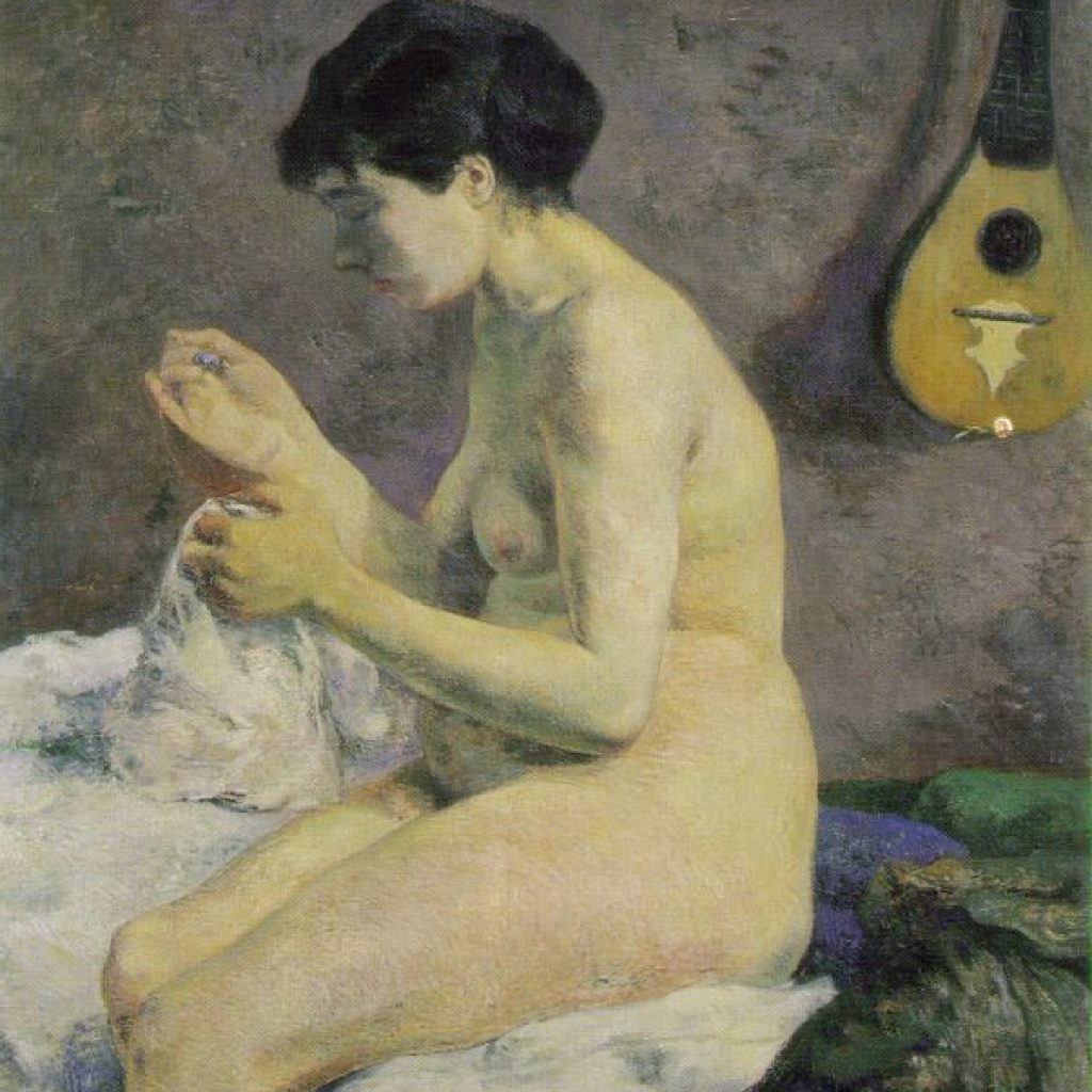 Etude de nu ou Suzanne cousant - Gauguin