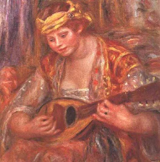 Femme à la mandoline - Renoir