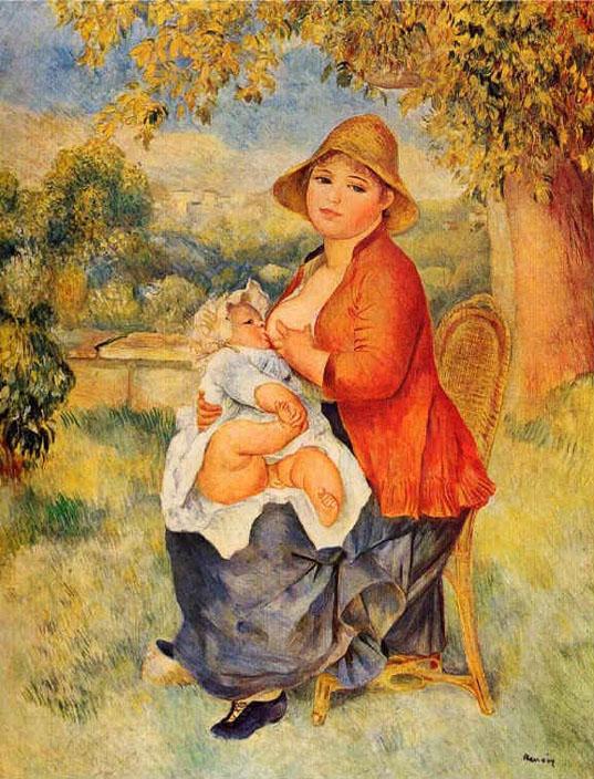 Femme allaitant son enfant - Renoir