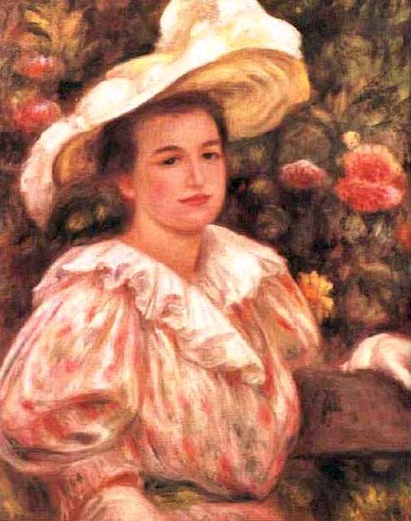 Femme au chapeau blanc - Renoir