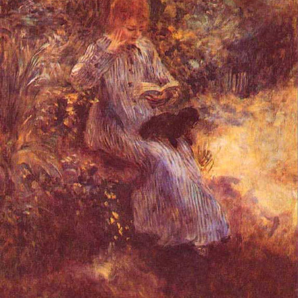 Femme au chien noir - Renoir