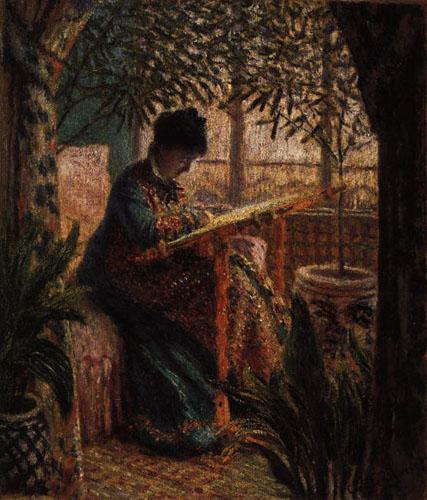 Femme au métier - Monet