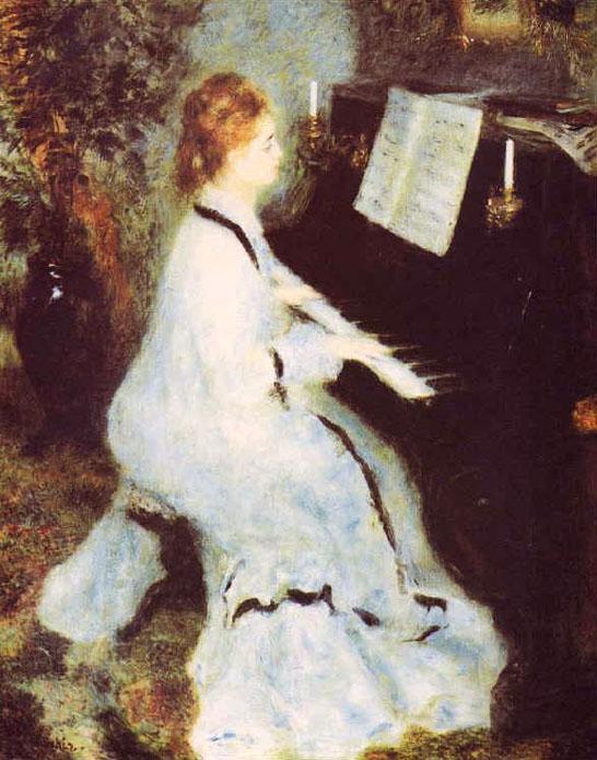 Femme au piano - Renoir