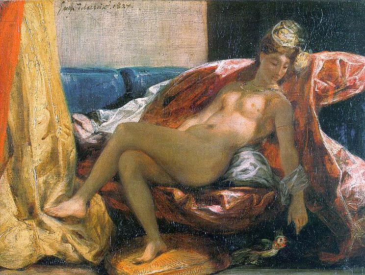 Femme avec un perroquet - Delacroix