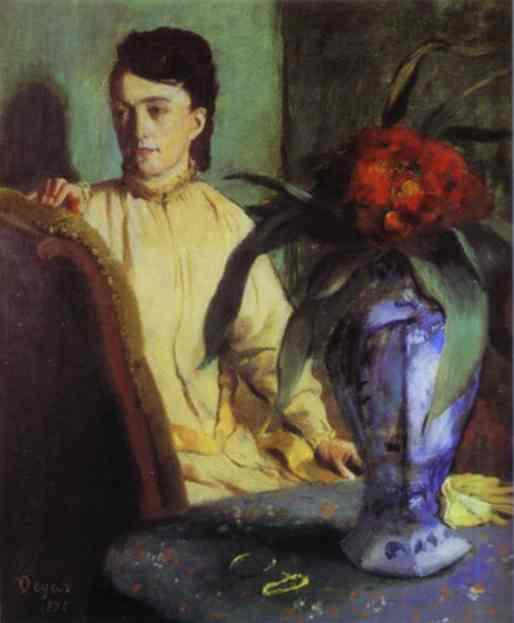 Femme avec un vase en porcelaine - Degas
