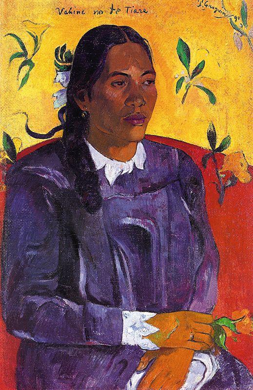 Femme avec une fleur - Gauguin
