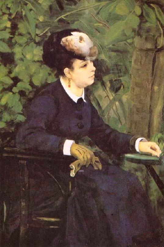 Femme dans un jardin - Renoir