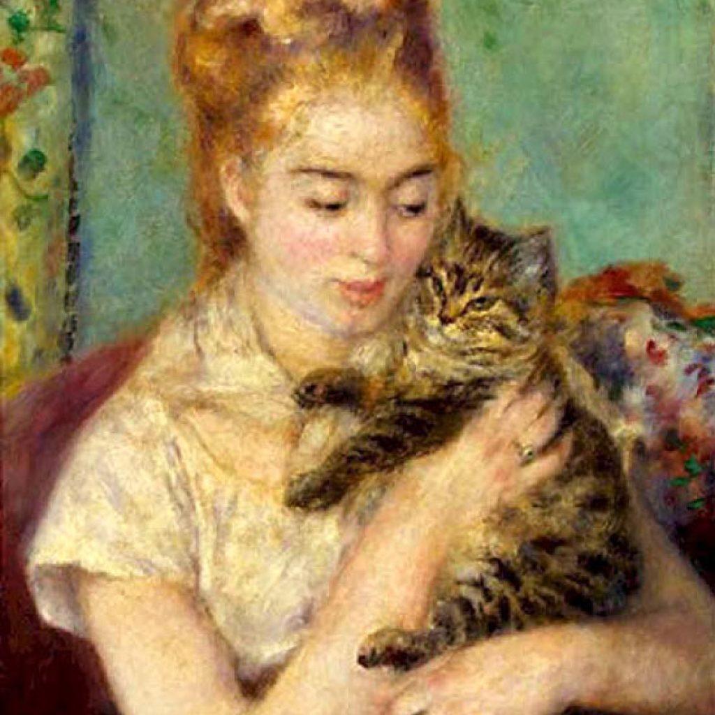 Fille au chat - Renoir