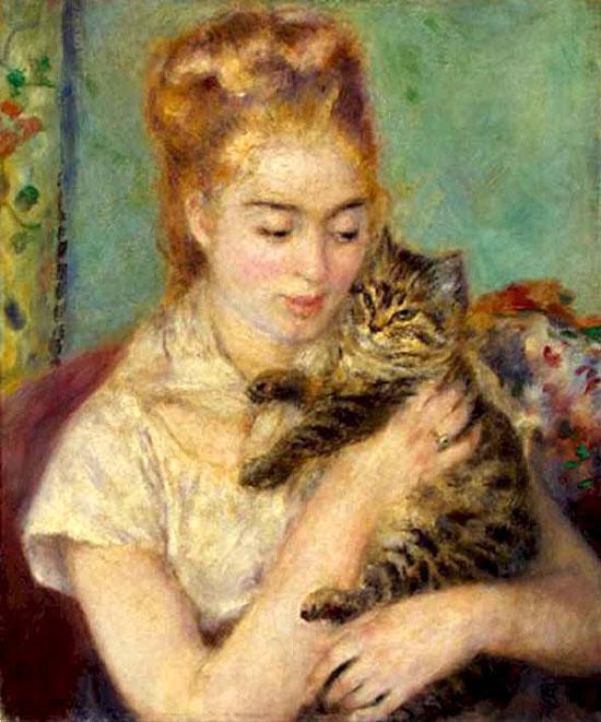 """Résultat de recherche d'images pour """"femme chat impressionniste"""""""