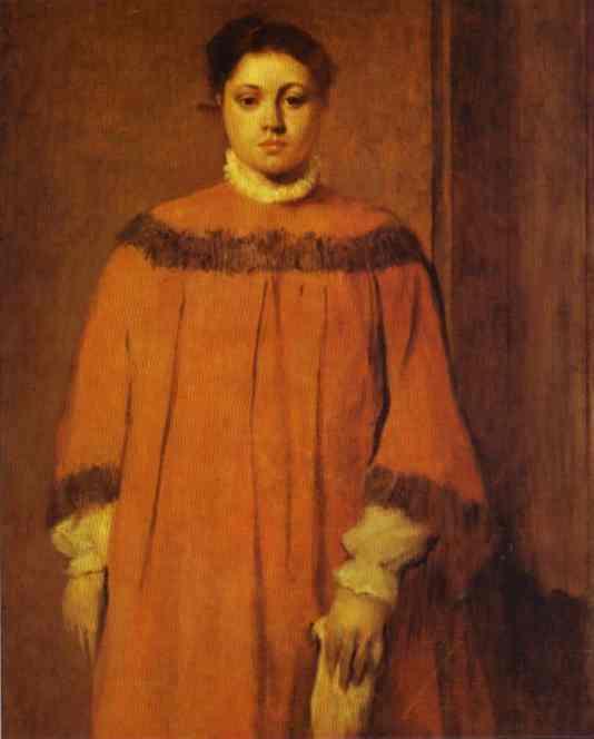 Fille en rouge - Degas