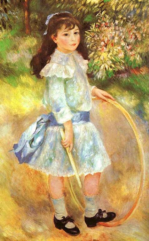 Fillette au cerceau - Renoir
