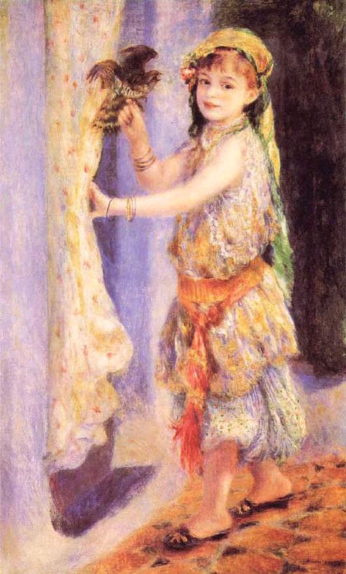 Fillette au faucon - Renoir