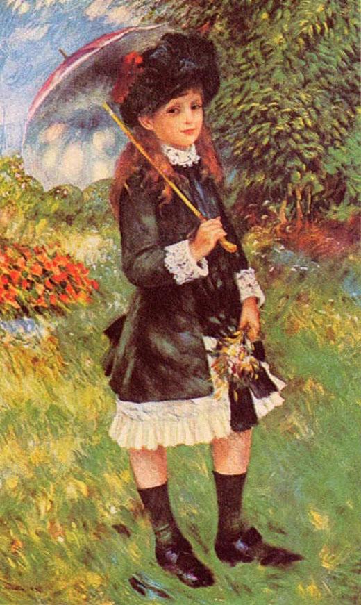 Fillette au parc - Renoir