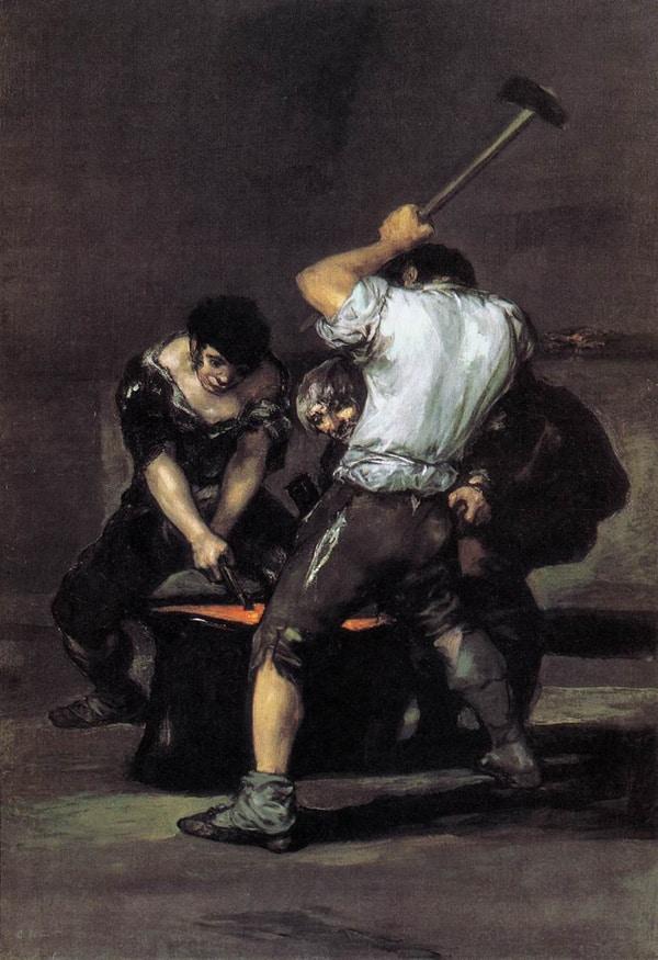 Forgerons au travail - Goya