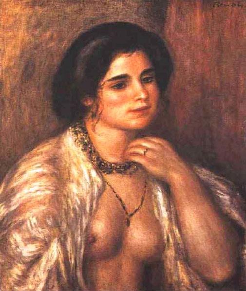 Gabrielle aux seins nus - Renoir